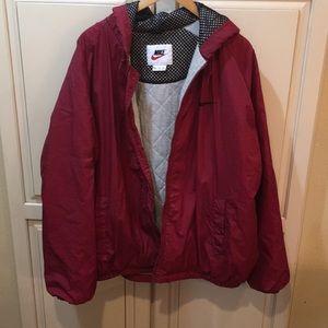 Vintage 90s nike big swoosh puffer jacket xl